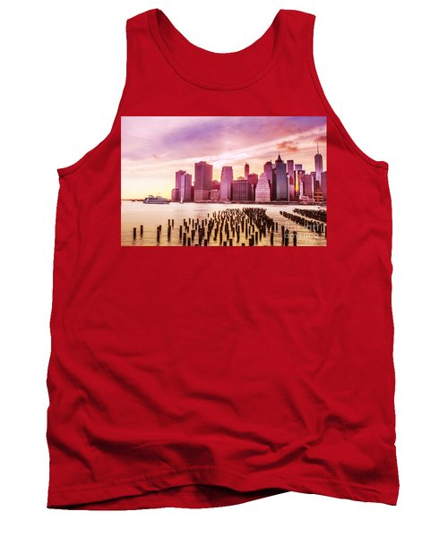 Lower Manhattan And Ferry Tank Top
