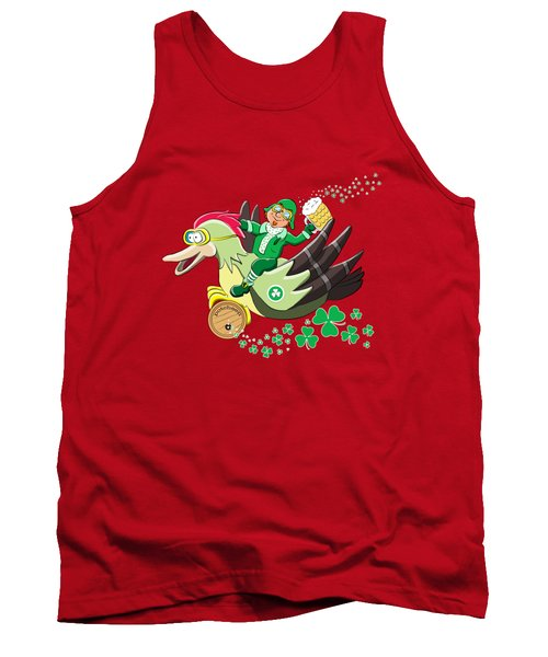 Lucky Leprechaun Tank Top by David Brodie