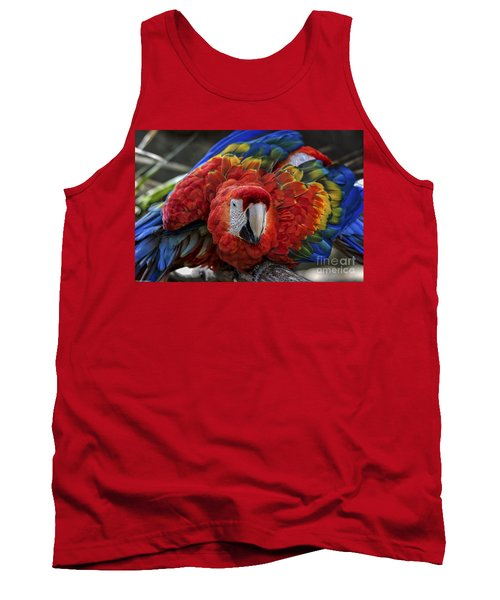 Macaw Parrot Tank Top by Mitch Shindelbower
