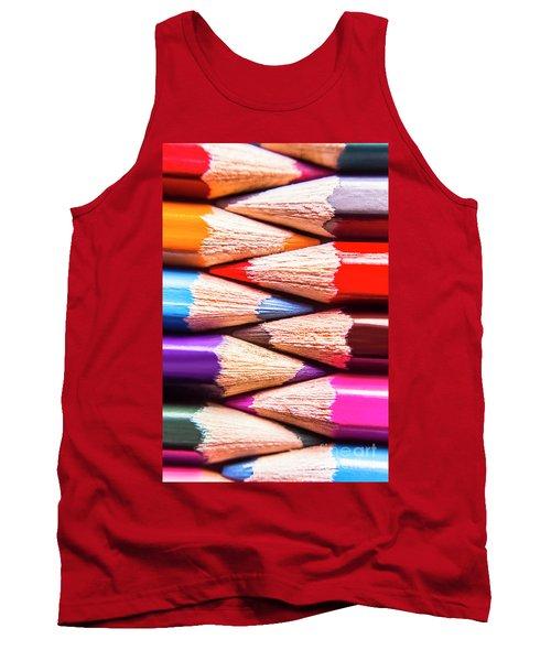 Macro Coloured Pencil Crossover Tank Top