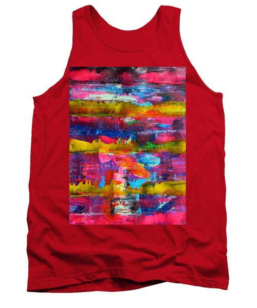 Tank Top featuring the painting Mad Season by Everette McMahan jr
