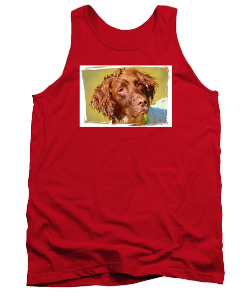 Tank Top featuring the photograph Maggie Head 3 by Constantine Gregory