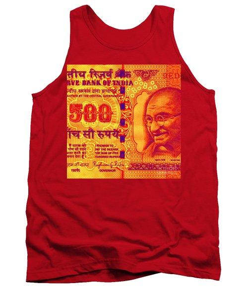 Mahatma Gandhi 500 Rupees Banknote Tank Top
