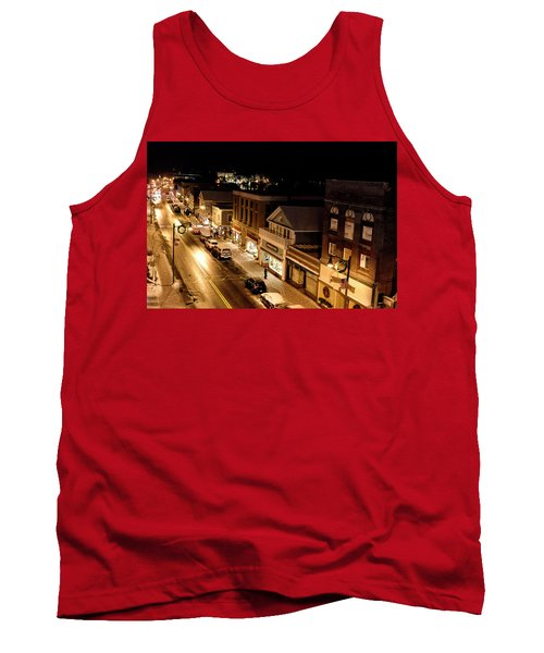 Tank Top featuring the photograph Main Street - Lake Placid New York by Brendan Reals