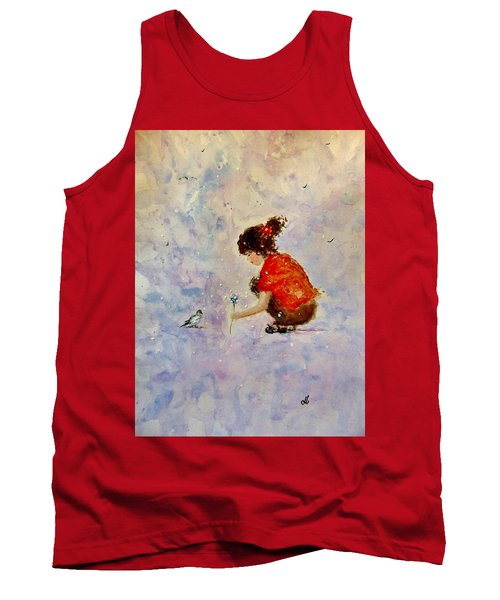 Tank Top featuring the painting Make A Wish 20 by Cristina Mihailescu