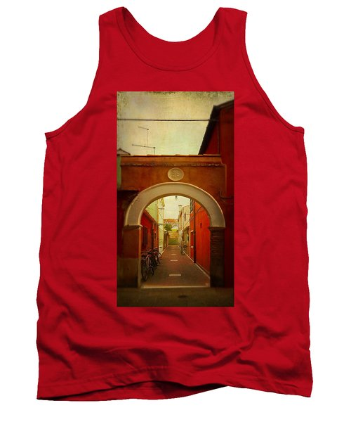 Tank Top featuring the photograph Malamocco Arch No1 by Anne Kotan