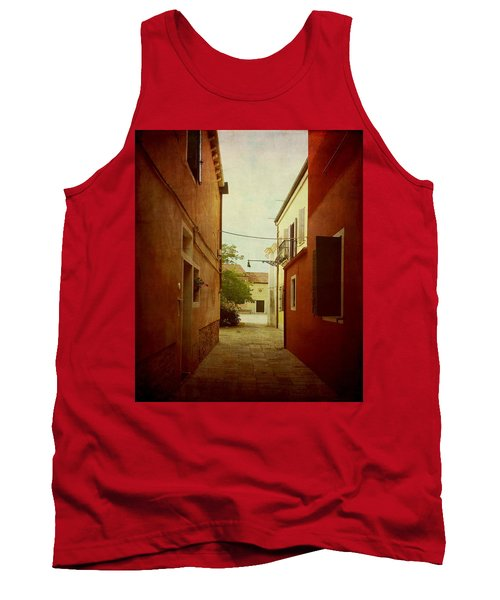 Tank Top featuring the photograph Malamocco Perspective No2 by Anne Kotan