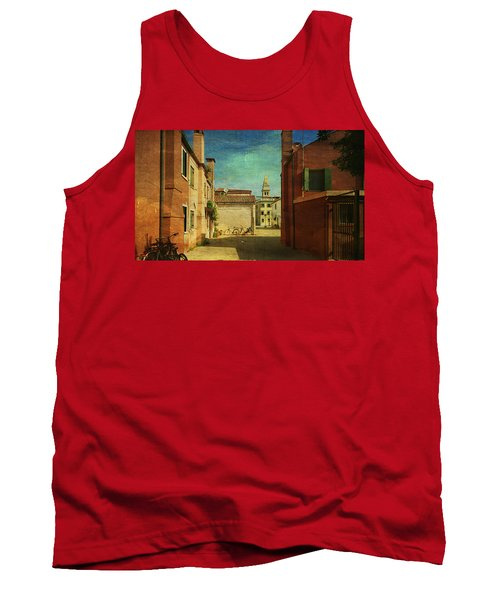 Tank Top featuring the photograph Malamocco Perspective No3 by Anne Kotan