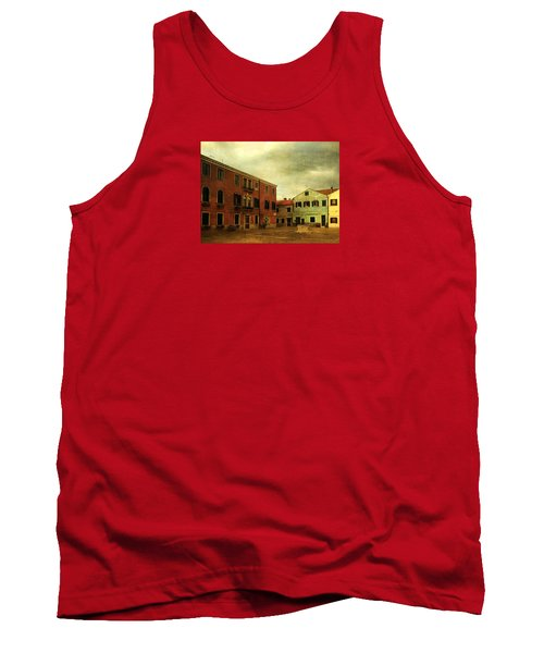 Tank Top featuring the photograph Malamocco Piazza No1 by Anne Kotan