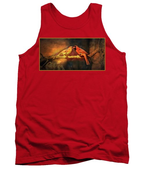 Male And Female Cardinal Tank Top by Diane Giurco