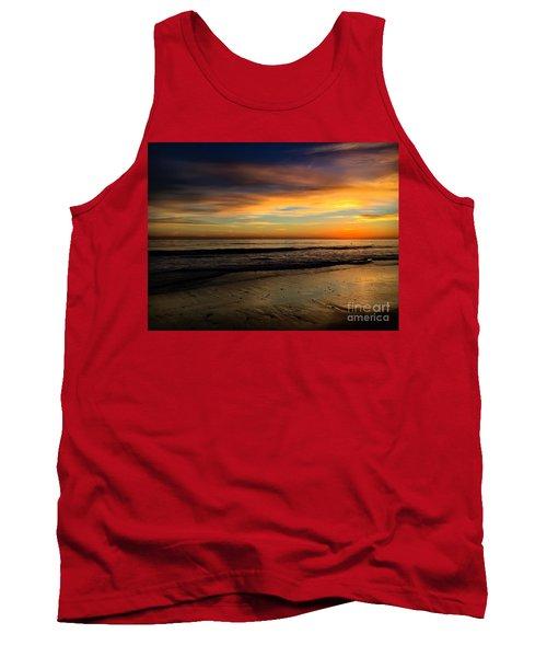 Malibu Beach Sunset Tank Top by Chris Tarpening