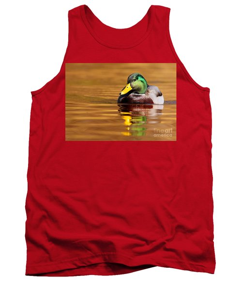 Mallard Drake In The Golden Water Tank Top