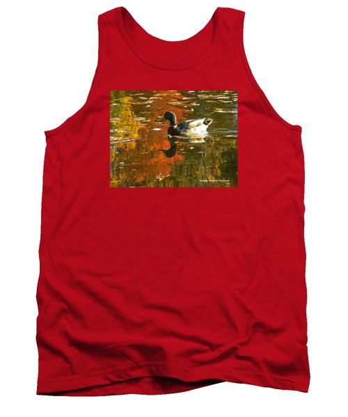 Tank Top featuring the photograph Mallard Duck In The Fall by Emmy Marie Vickers