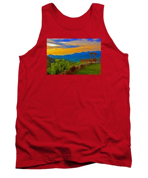 Blue Ridge Sunset From Mama Gertie's Hideaway Tank Top