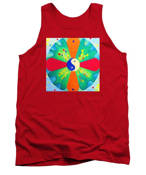 Tank Top featuring the painting Mandala by Denise Fulmer