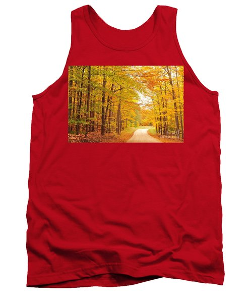 Manisee National Forest In Autumn Tank Top