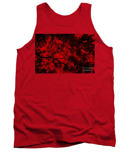 Maple Dance In Red Velvet Tank Top