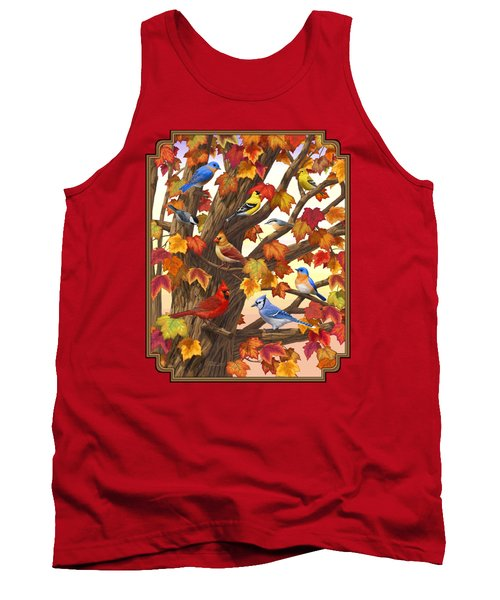 Maple Tree Marvel - Bird Painting Tank Top by Crista Forest