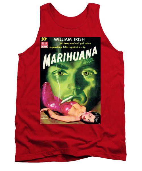 Tank Top featuring the painting Marihuana by Bill Fleming