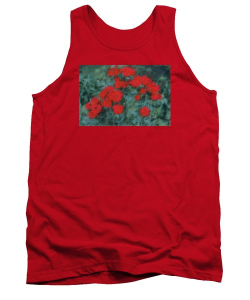 Marilyn's Red Roses Tank Top by The Art Of Marilyn Ridoutt-Greene