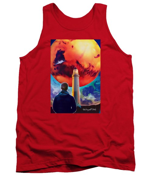 Tank Top featuring the painting Mars Dreamer by Ted Azriel