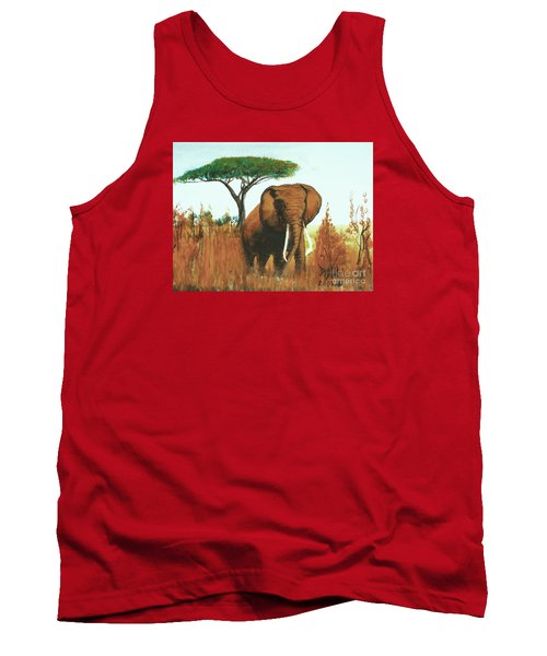 Tank Top featuring the painting Marsha's Elephant by Donna Dixon