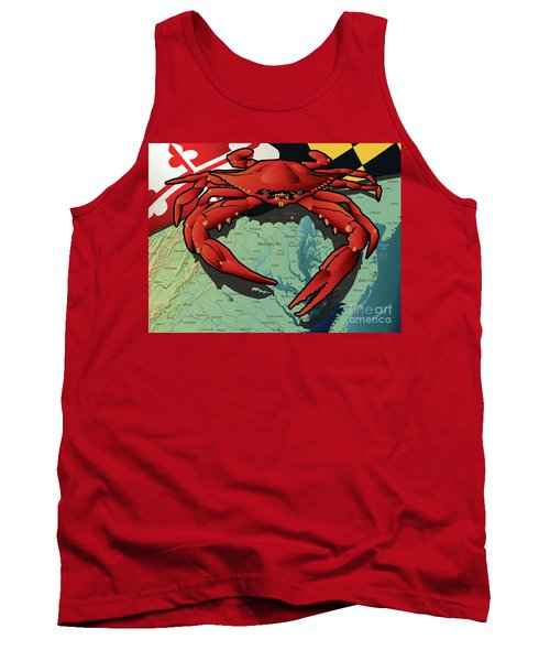 Maryland Red Crab Tank Top