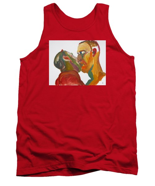 Masculine Kiss Tank Top by Shungaboy X