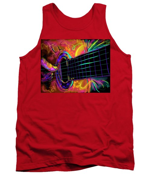 Tank Top featuring the painting Medianoche by DC Langer