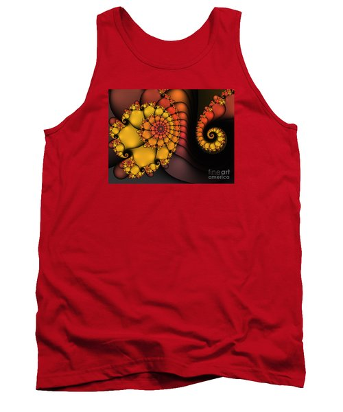 Tank Top featuring the digital art Meeting by Karin Kuhlmann