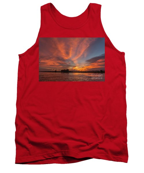 Tank Top featuring the photograph Mekong Sunset 3 by Werner Padarin