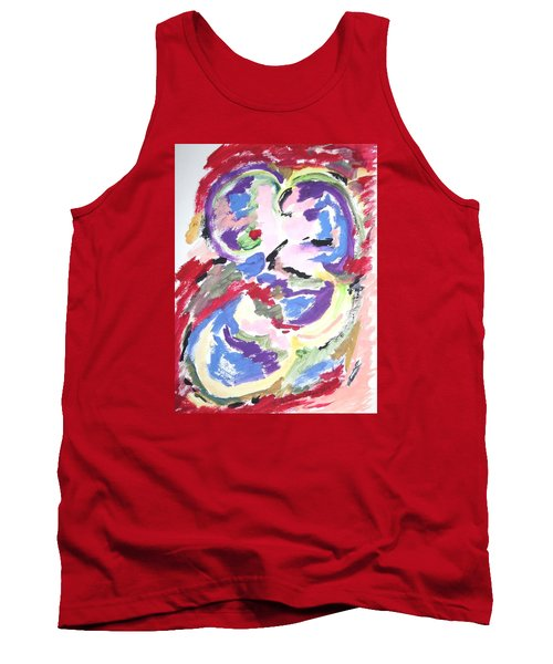 Tank Top featuring the painting Mental Preoccupation by Esther Newman-Cohen