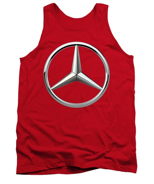 Mercedes-benz - 3d Badge On Red Tank Top by Serge Averbukh