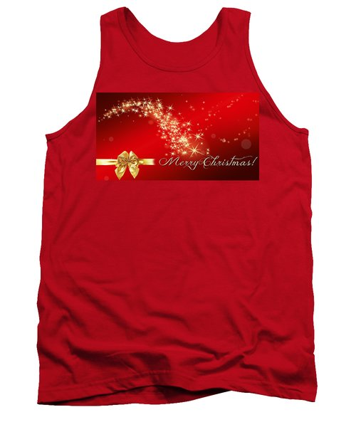 Merry Christmas Christmas Card Tank Top by Bellesouth Studio