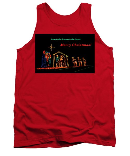 Merry Christmas Tank Top by Penny Lisowski