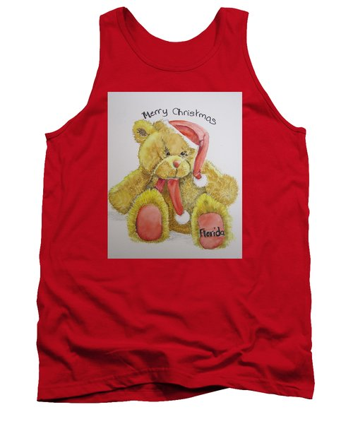 Merry Christmas Teddy  Tank Top