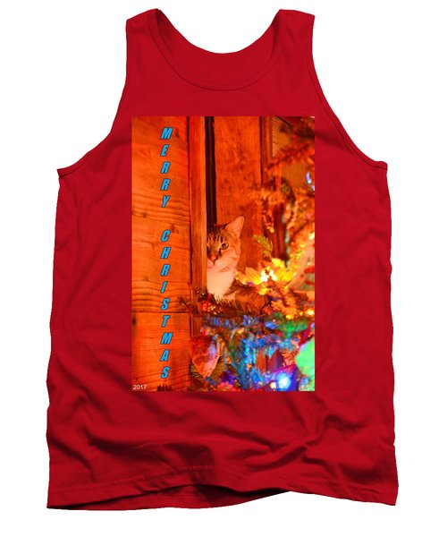 Merry Christmas Waiting For Santa Tank Top