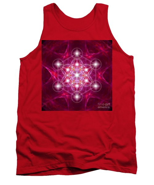 Metatron Cube With Flower Tank Top