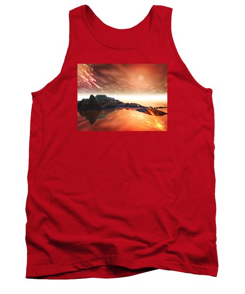 Tank Top featuring the digital art Meteroite by Jacqueline Lloyd