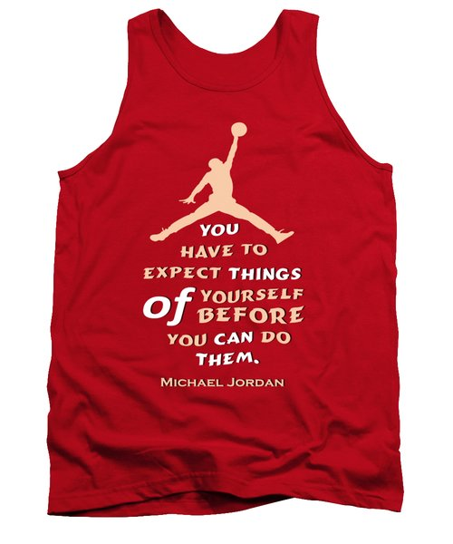 Michael Jordan Famous Basketball Players Quotes Tank Top by Creative Ideaz