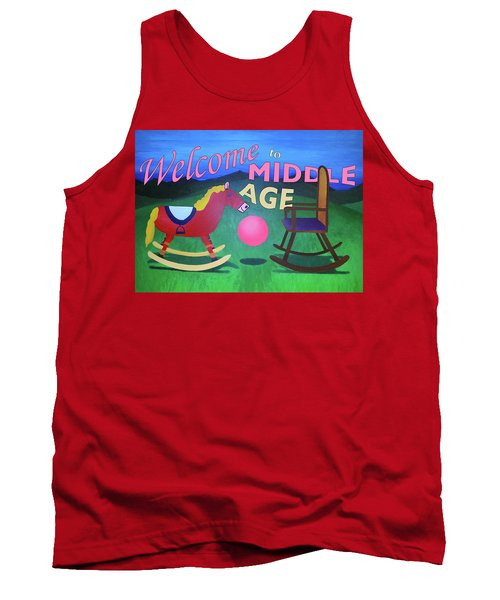 Middle Age Birthday Card Tank Top