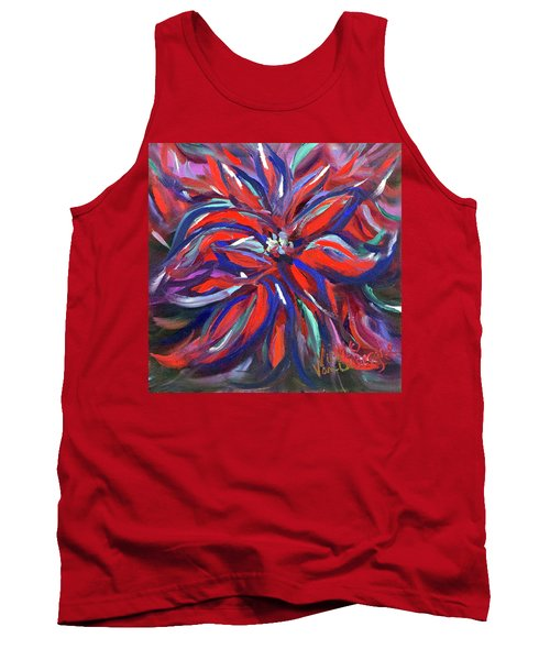 Midnight Poinsettia Tank Top