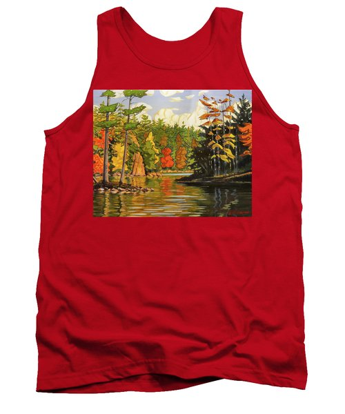 Mink Lake Narrows Tank Top by David Gilmore