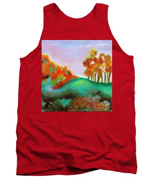 Tank Top featuring the painting Misty Morning by Elizabeth Fontaine-Barr