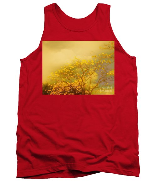 Misty Yellow Hue -poui Tank Top