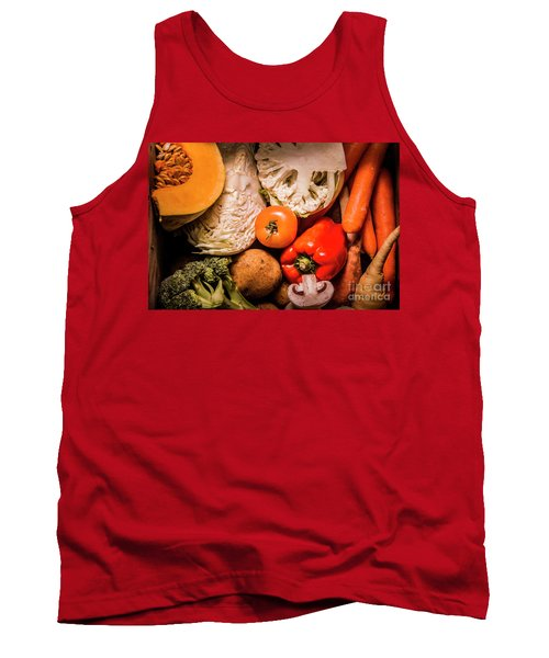 Mixed Vegetable Produce Pack Tank Top by Jorgo Photography - Wall Art Gallery