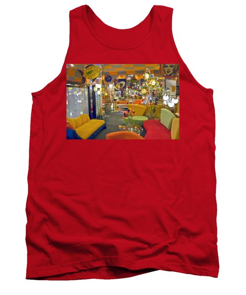 Tank Top featuring the photograph Modern Deco Furniture Store Interior by David Zanzinger