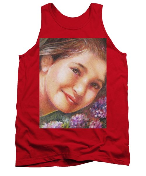 Mona Lisa's Smile Tank Top by Patricia Schneider Mitchell