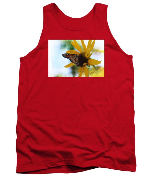 Monarch With Sunflower Tank Top by Yumi Johnson