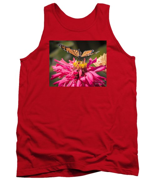 Tank Top featuring the photograph Monarch On The Last Days Of Summer by Ricky L Jones